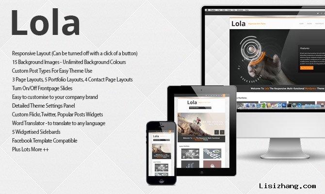 Lola - Premium Responsive WordPress Theme